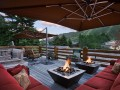 Rooftop seating and hot tub