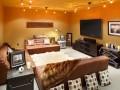 Penthouse unit entertainment room