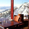 The view from Couloir Restaurant.
